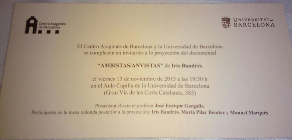 invitación universidad barcelona para anvistas