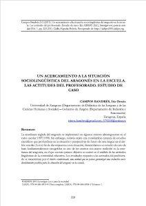 acercamiento a la situación sociolingüística del aragonés