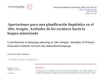 actitudes-linguisticas-educacion-primaria-lengua-minoritaria-lengua-aragonesa